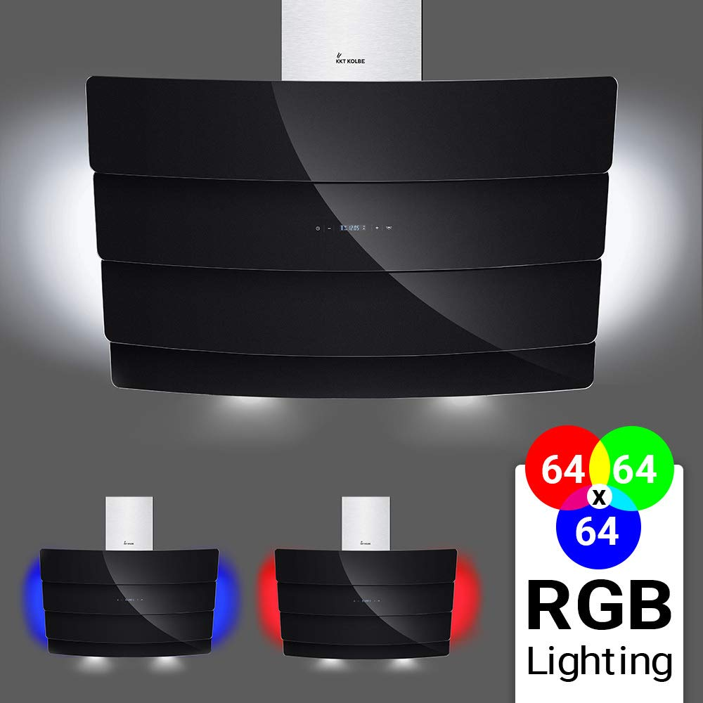 Campana de dise/ño a pared Candy CVMAD60N 57 dB Clase D Color Negro 400m/³//h