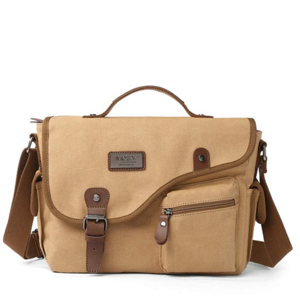 hkaki Mens Vintage Canvas Multifunctional Portable Shoulder Messenger Bag Losmile Canvas Messenger Bag,