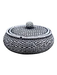 Ashtray Household Trend Multi-Function Retro Large with Cover Home Gift Ornaments - LXZXZ (Color : A)