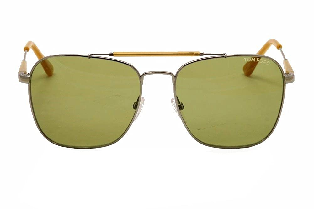 34ed9531cf6 Amazon.com  Tom Ford Edward FT0377 14N Shiny Light Ruthenium Green 58mm   Clothing
