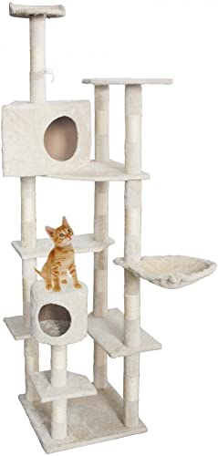 Cat Tree 73 Condo Furniture Scratching Post Pet Cat Kitten House
