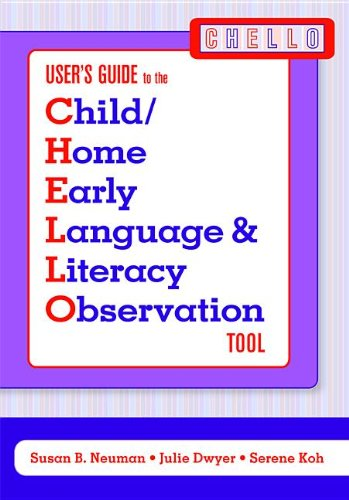 Child/Home Early Language and Literacy Observation Chello Tool (Set of 5)
