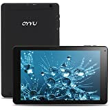 OYYU T11 10 Inch 3G Unlocked Phablet, Android 7.0 Dual SIM Card Phone Call Tablet PC, MTK8321 Quad Core 16GB ROM IPS Display 1280x800, with Dual Camera Wi-Fi GPS Bluetooth OTG Black Rear