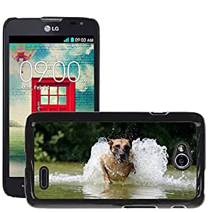 Hot Style Cell Phone PC Hard Case Cover // M00117483 Malinois Water Belgian Shepherd Dog // LG Optimus L70 MS323