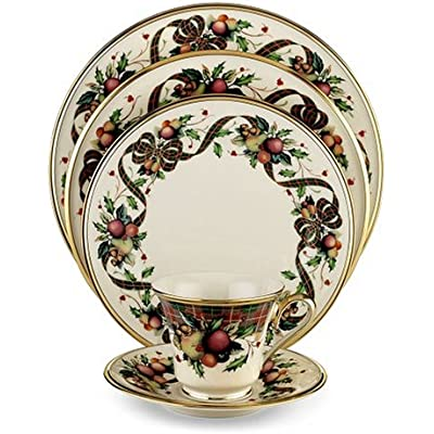 Click for Lenox Holiday Tartan Gold-Banded 5-Piece Place Setting, Service for 1