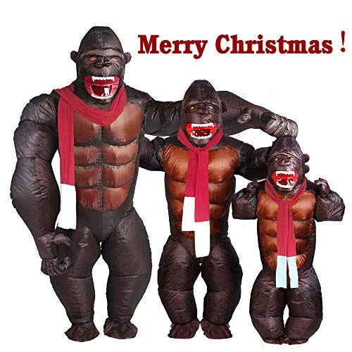 Kids Gorilla Inflatable Costume - Halloween Inflatable Costume Orangutan Gibbon Chimp Monkey Fancy Dress (Kid Size) -