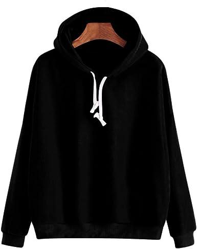 Cromoncent Womens Hoodie Cropped Top Printed Long Sleeve Pullover Sweatshirts