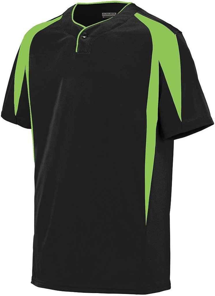 Augusta Sportswearメンズフライボール野球ジャージー B00P53TT22 Medium|ブラック/ライム ブラック/ライム Medium