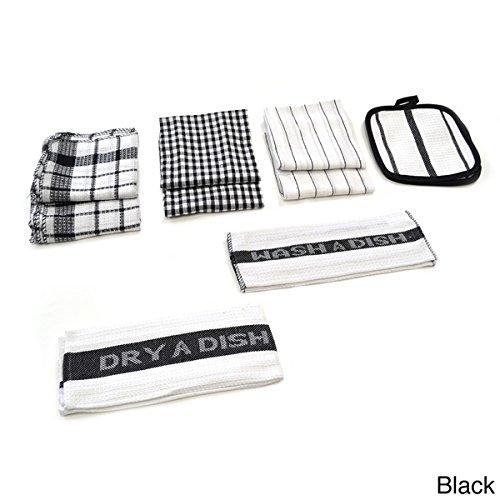 Home Basics Utility 17-piece Kitchen/ Dish Towel Set plus BergHOFF Green Ceramic and Stainless Steel 6-piece Roasting Set (Bundle Set 5) by Home Basics Utility