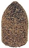 PFERD 61829 Type 16 Round Nose Cone, Aluminum Oxide, 2'' Diameter x 3'' Length, 5/8-11 Thread, 18144 rpm, 16 Grit