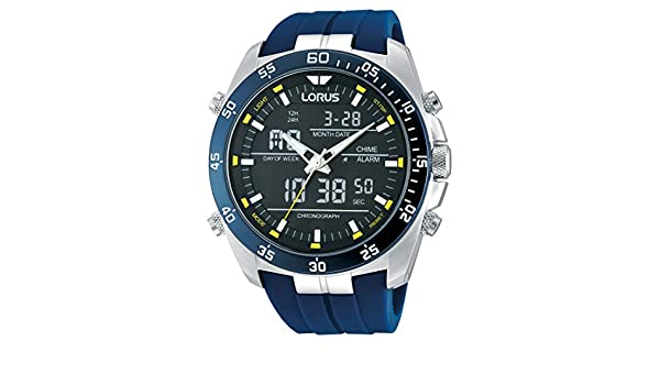 Amazon.com: Lorus Mens Quartz Watch with Rubber Strap – RW617AX9: Watches