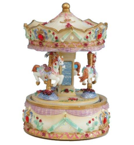 オープニング 大放出セール Musicbox Kingdom 14038 Kingdom Carousel 14038 with Gem音楽ボックスPlaying Macarena、レッド Macarena、レッド B001X1MC06, 爽快ドラッグ:70ba753f --- arcego.dominiotemporario.com