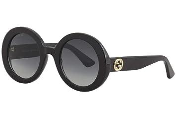 Gucci Gafas de Sol GG0319S Black/Grey Mujer: Amazon.es ...