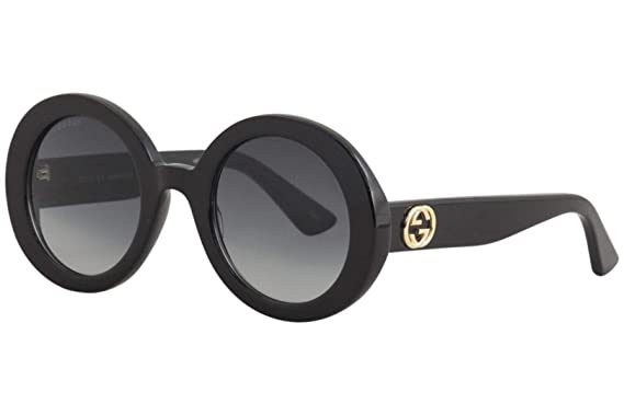 efe06833b5a Image Unavailable. Image not available for. Color  Gucci GG0319S Sunglasses  001 Black   Grey Gradient ...