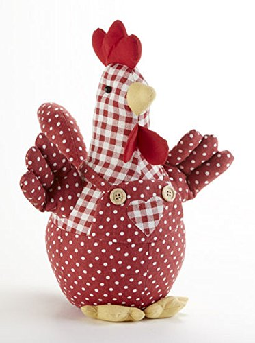 Delton Products Rooster in 12 Inches Jumper Stuffed Animals Red