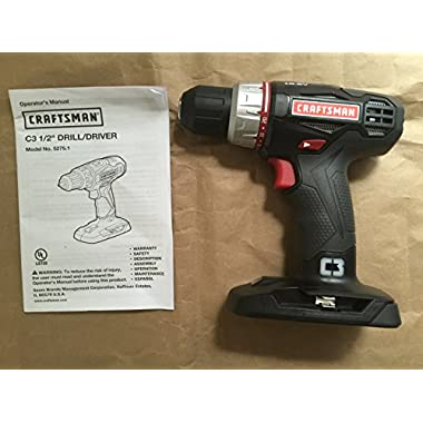 Craftsman C3 19.2 Volt 1/2 Inch Drill/Driver Model 5275.1 (Bare Tool, No Battery or Charger Included)