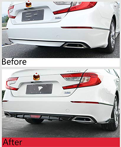 - ProooAuto for Honda Accord 2018-2019 Rear Bumper Diffuser Side Wing Body Kit Gloss Black