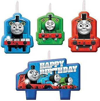 Amazon.com: Thomas todos a bordo Vela de cumpleaños conjunto ...