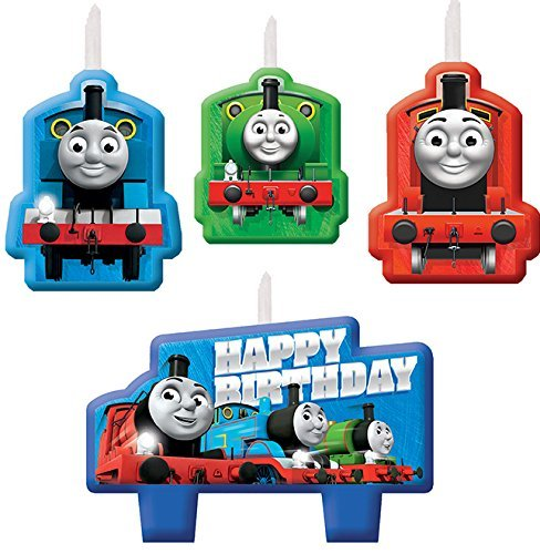 amscan 171752 Thomas All Aboard Birthday Candle, One Size, Multicolor ()