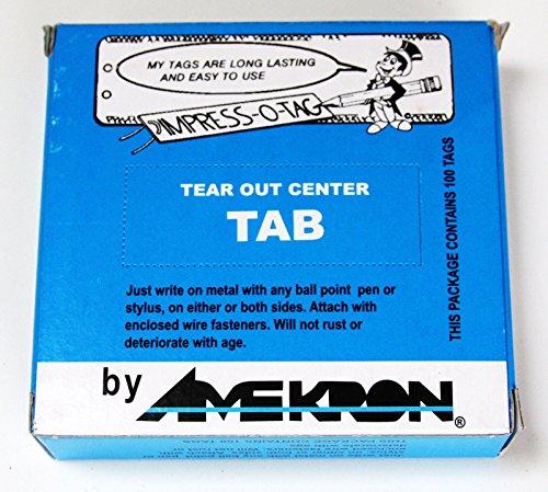 Amekron Impress O Tag, Aluminum Plant Label Tree Labels Tags Outdoor 500 Labels by IMPRESS-O-TAG