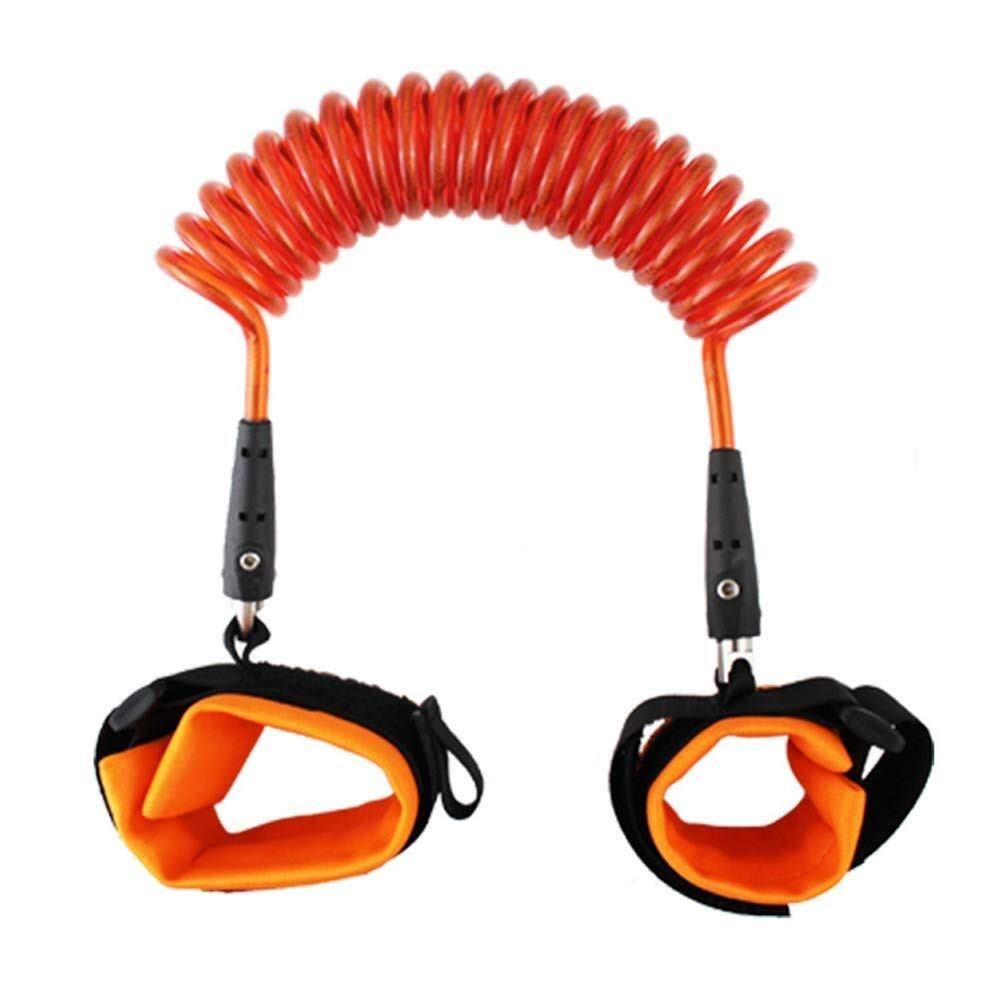 Anti-Lost Bracelet Anti-Lost Rope Password Lock Anti-Lost Traction Rope (Color : Orange, Size : 2.5m)