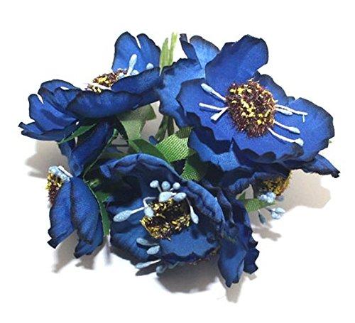 Artificial Camellia Flower Bouquet Scrapbooking Wedding Decoration Bridal Bouquet ZG0116 (10.Navy)