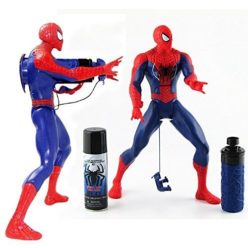 Action Figure Amazing Spiderman bjd doll Model Brinquedos Spidey Shot 2 IN 1 web fluid water shooter juguetes kids Shooting (Spider Man Noir Costume)
