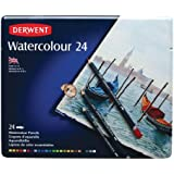 Derwent Water Color Pencils, Watercolor, Drawing, Art, 24-Pack (32883)
