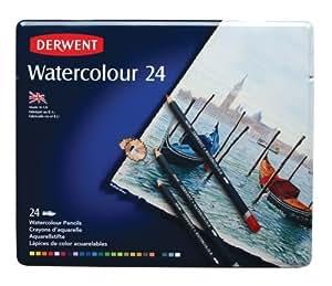 Derwent Water Color Pencils, Watercolor, Drawing, Art, 24-Pack (32883)