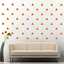 """JCM CUSTOM Removable Easy Peel and Stick, Wall Vinyl Decal Sticker, DIY Decor / Safe on Painted. 3"""" W X 2.5"""" L, Triangle, Orange, Set of 96 +"""