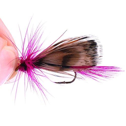 ZREAL 32pcs reclamo de pesca a mosca Juego de insectos artificiales cebo trucha anzuelos para pesca a mosca affrontare con caja caso