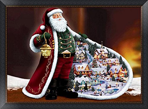 5D DIY Diamond Painting kit Rhinestone Embroidery Cross Stitch Arts Craft for Christmas Home Wall Decor, Santa Claus