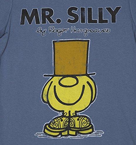 Mens Blue Mr Men Mr Silly T Shirt