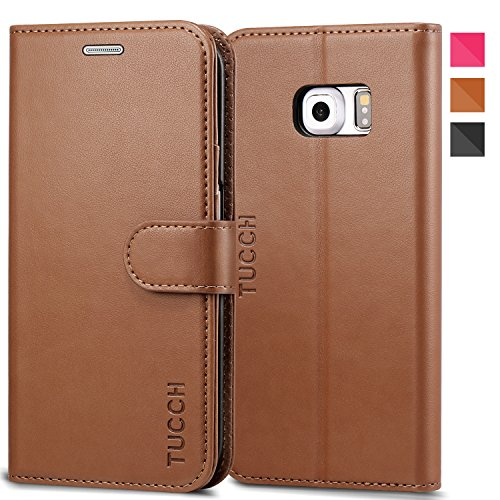 TUCCH Galaxy S6 Edge Case Leather Wallet Case Compatible for sale  Delivered anywhere in Canada