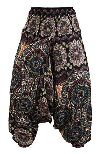 Black Et Bohemian Pantalons Aladdin Harem Cccollections Rayonne 1 Combinaison En 2 qIpzSwvZ
