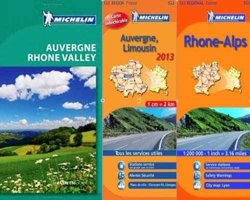 Michelin Green Guide Pack: Auvergne and the Rhone Valley - Guide and two maps