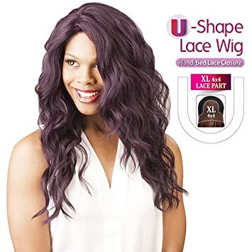 Amazon.com   New Born Free Synthetic Lace Front Wig Magic Lace U-Shape Lace  Wig MLU04 (Deep Violet)   Beauty 84487068fe4b