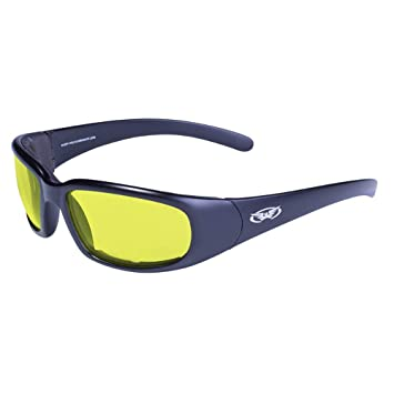 eb4b46f39193 Image Unavailable. Image not available for. Color  Global Vision Chicago XL Padded  Motorcycle Riding Glasses ...