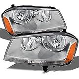 headlights for 2008 dodge avenger - Dodge Avenger OE Replacement Chrome Bezel Headlights Driver/Passenger Head Lamps Pair New
