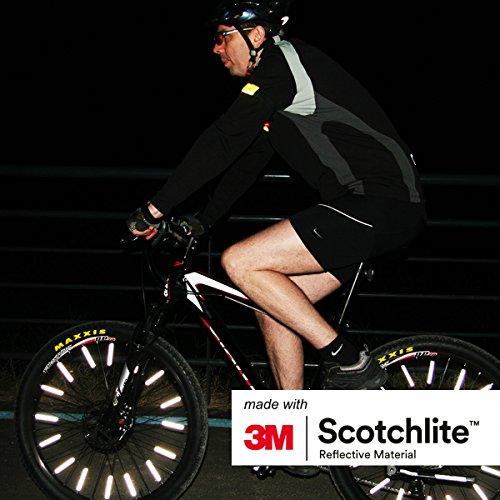 Salzmann 3M Scotchlite Hi Vis Spoke Reflector Bicycle Clips - 36 Pack by Salzmann (Image #4)