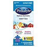 Pedialyte Electrolyte Powder, Electrolyte Drink, Variety Pack, Powder Sticks, 0.3 oz, 8 Count
