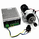 CNC Spindle 500W Air Cooled 0.5kw Milling Motor and Spindle Speed Power Converter and 52mm Clamp and 13pcs ER11 Collet for DIY Engraving