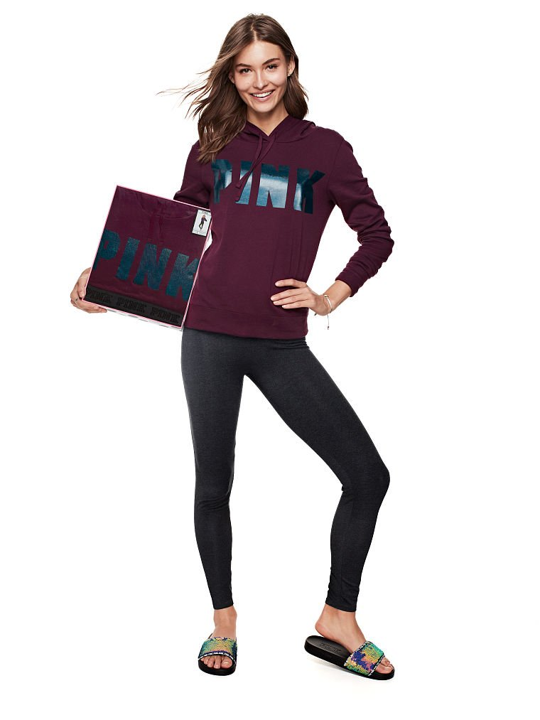 Victoria's Secret Pink Perfect Pullover & Yoga Legging- Small by Victoria's Secret (Image #1)
