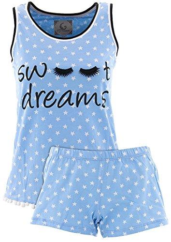 PJ Couture Women's Sweet Dreams Shorty Pajamas L