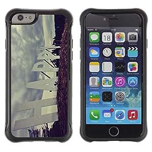 Fuerte Suave TPU GEL Caso Carcasa de Protección Funda para Apple Iphone 6 / Business Style Happy Quote Slogan Sign Road Positive