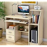 Home Office Computer Desk with Storage Drawers and Shelves Study Student Business Workstation White Oak