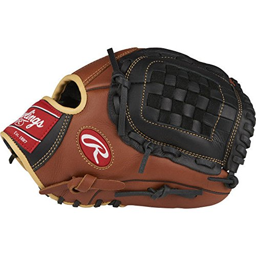 Rawlings Sandlot Series Leather Basket Web Baseball Glove, 12