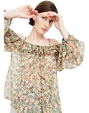 Mango Women's Printed Off-Shoulder Blouse
