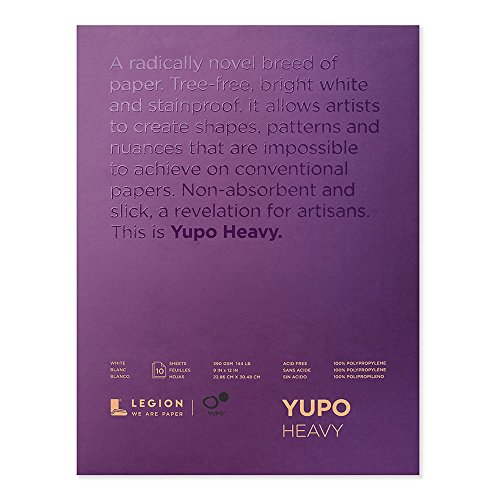 Yupo Heavyweight Pad White 9X12 Inch (Packaging May Vary)