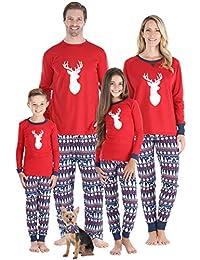 Matching Family Christmas Pajama Sets, Red
